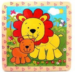 Brimarex Puzzle drewniane Lwy - 1564535