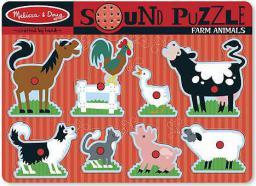 Melissa & Doug Puzzle Farm animals dźwiękowe  - 10726