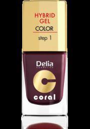 Delia Cosmetics Coral Hybrid Gel Emalia do paznokci nr 11 ciemny fiolet 11ml