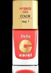 Delia Cosmetics Coral Hybrid Gel Emalia do paznokci nr 15 koralowy 11ml
