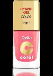 Delia Cosmetics Coral Hybrid Gel Emalia do paznokci nr 16 ciepły średni róż 11ml