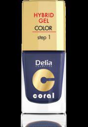 Delia Cosmetics Coral Hybrid Gel Emalia do paznokci nr 17 granat 11ml