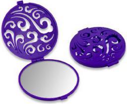 Lusterko kosmetyczne Donegal kompaktowe okrągłe Mar-Plata ażurowe (4523)