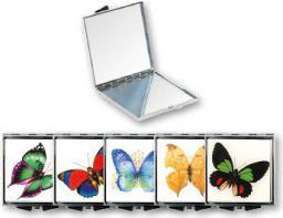 Lusterko kosmetyczne Top Choice kieszonkowe Butterfly kwadratowe (85420)