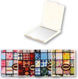 Lusterko kosmetyczne Top Choice kieszonkowe Patchwork kwadratowe (85505)