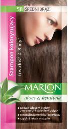 Marion Szampon koloryzujący 4-8 myć nr 58 średni brąz 40 ml