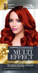 Joanna Multi Effect Color Keratin Complex Szamponetka 15 Płomienny Rudy  35 g