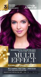 Joanna Multi Effect Color Keratin Complex Szamponetka 04 Malinowa Czerwień  35 g