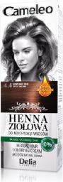 Delia Cosmetics Cameleo Henna Ziołowa  nr 4.4 korzenny brąz  75 g