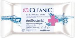 Cleanic Chusteczki odświeżające Antibacterial  1 opakowanie 15 sztuk