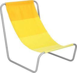Springos Leżak ogrodowy metalowy fotel składany, leżanka żółta UNIWERSALNY