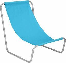 Springos Leżak ogrodowy metalowy fotel składany, leżanka niebieska UNIWERSALNY