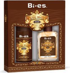 Bi-es Bi-es Royal Brand Gold Komplet Woda po goleniu + Dezodorant - 093444