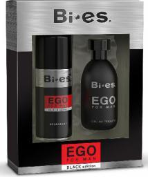 Bi-es Ego Black Komplet (woda toaletowa 100ml + dezodorant 150ml)