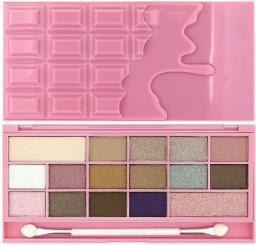 Makeup Revolution I Love Make Up Palette Zestaw cieni do powiek Chocolate Pink Fizz (16 kolorów) 22g