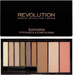 Makeup Revolution Euphoria Palette Bronzed Zestaw do makijażu oczu i twarzy 18g
