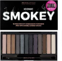 Makeup Revolution Redemption Palette 12 Zestaw cieni do powiek Iconic Smokey (12 kolorów) 13g