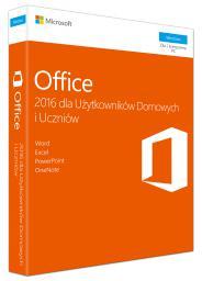 Microsoft Office 2016 dla Użytkowników Domowych i Uczniów (79G-04609)
