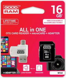 Karta MicroSD GoodRam 16GB (M1A4-0160R11)