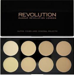 Makeup Revolution Ultra Cover and Concealer Palette Korektory Light 10g