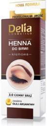 Delia Henna do brwi nr 3.0 Ciemny Brąz