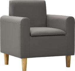 vidaXL Sofa dla dziecka, szara, obita sztuczną skórą