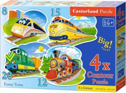 Castorland 4w1 Zabawne Pociągi - 043033