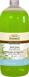 Green Pharmacy Pianka do kąpieli Oliwki & Mleko ryżowe 1000ml