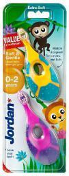 Jordan  Szczoteczka do zębów DUO Soft & Gentle dla dzieci (0-2 lat) bardzo miękka  1 op-2szt