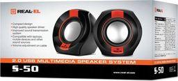 Głośniki komputerowe REAL-EL S-50 6W 2.0 Black-Red
