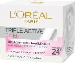 L'Oreal Paris Triple Active Krem na dzień nawilżająco ochronny do cery suchej i wrażliwej 50 ml