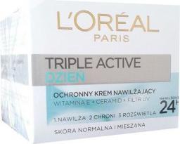 L'Oreal Paris Triple Active Dzień  krem na dzień ochronno - nawilżający do cery normalnej i mieszanej 50 ml