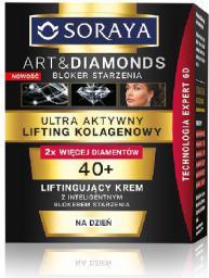 Soraya Art and Diamonds Ultra Aktywny Lifting Kolagenowy Liftingujący krem na dzień 40+  50ml