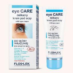 FLOSLEK Pielęgnacja oczu Delikatny krem pod oczy ze świetlikiem i witaminą C 30 ml