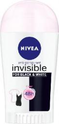 Nivea Dezodorant INVISIBLE Black&White CLEAR sztyft damski  40ml