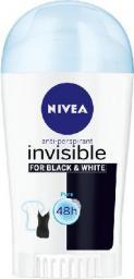 Nivea Dezodorant INVISIBLE Black&White PURE sztyft damski  40ml