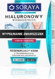 Soraya Hialuronowy Mikrozastrzyk Krem regenerujący 40+ na dzień i noc  50ml
