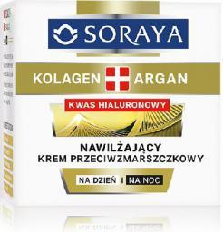 Soraya Kolagen Argan Krem nawilżający przeciwzmarszczkowy na dzień i noc  50ml