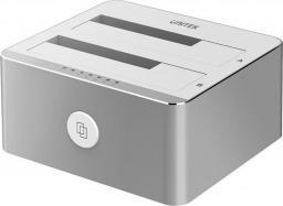 Stacja dokująca dla dysku twardego Unitek Y-3026 Dual HDD USB 3.0 Srebrny