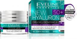 Eveline New Hyaluron Drugiej Generacji 50+ Krem-serum liftingujący na dzień i noc  50ml
