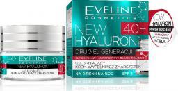 Eveline New Hyaluron Drugiej Generacji 40+ Krem ujędrniający na dzień i noc  50ml
