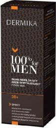 Dermika 100% for Men Krem 30+ nawilżający na dzień i noc 50ml