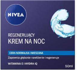 Nivea Krem na noc regenerujący do cery normalnej i mieszanej 50ml