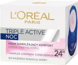 L´Oreal Paris Triple Active Krem odżywczy na noc 50 ml