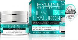 Eveline New Hyaluron Drugiej Generacji 30+ Krem nawilżający na dzień i noc  50ml