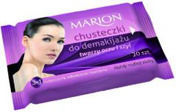 Marion Chusteczki do demakijażu twarzy ,oczu i szyi do każdej skóry 1op.-20szt