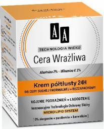 AA Technologia Wieku Cera Wrażliwa Krem półtłusty do cery suchej i normalnej 50ml