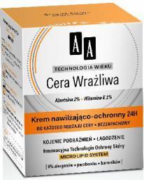 AA Technologia Wieku Cera Wrażliwa Krem nawilżająco-ochronny do każdego rodzaju cery  50ml
