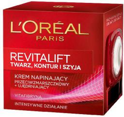 L'Oreal Paris REVITALIFT Kontur twarzy i szyja Krem napinający przeciwzmarszczkowy i ujędrniający 50 ml
