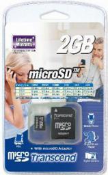 Karta MicroSD Transcend 2GB (TS2GUSD)
